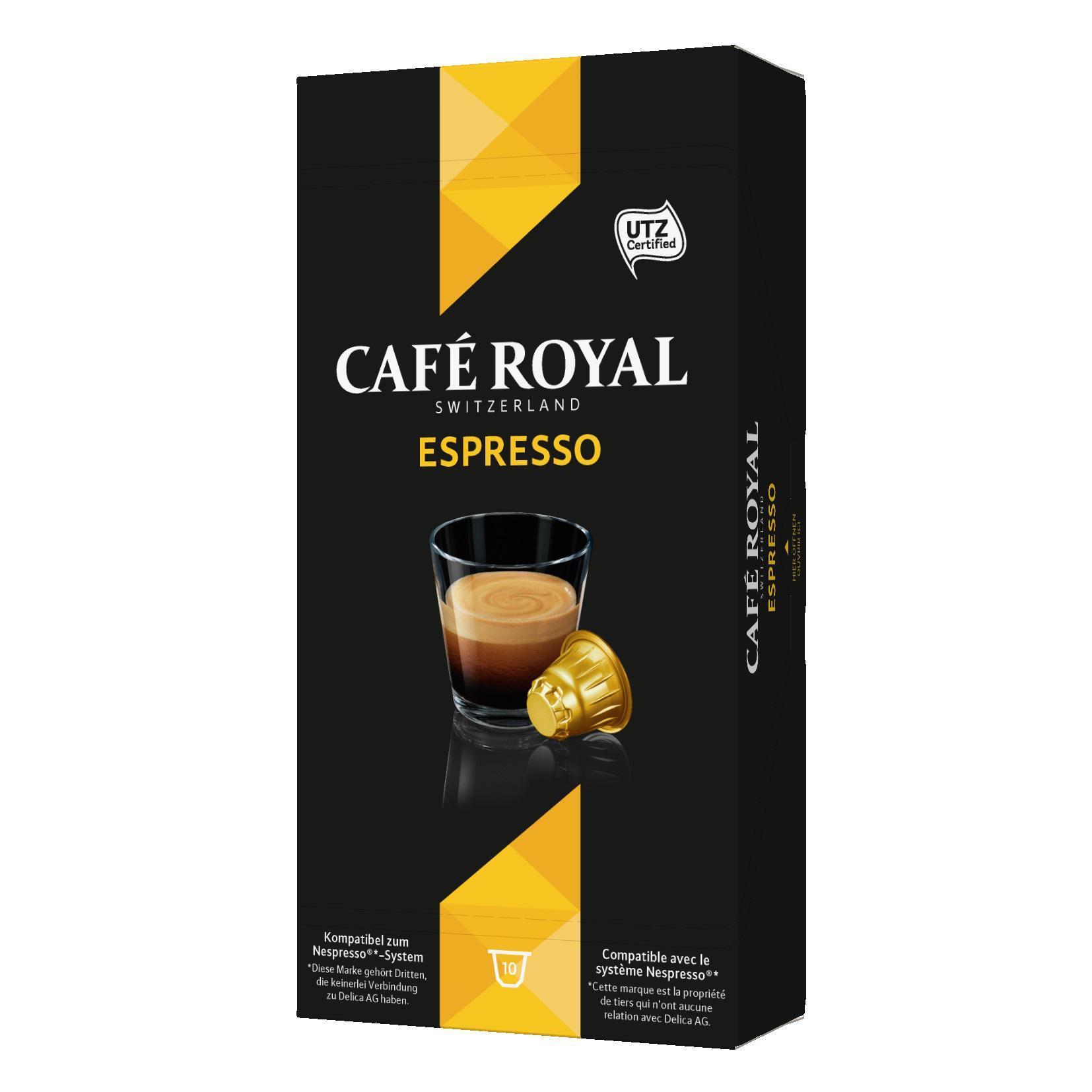 Pack de capsules Café Royal compatibles Nespresso gratuit (+ gain de 0,80€) (via C-wallet et Shopmium)