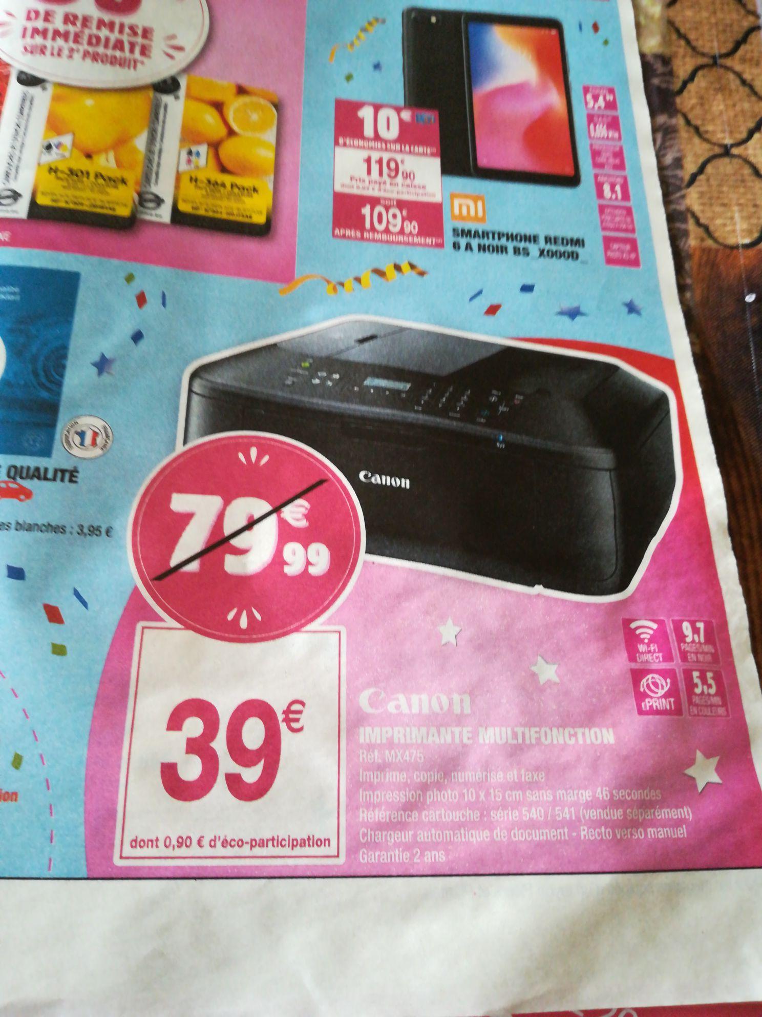 Imprimante multifonctions Canon MX 475 - Noir