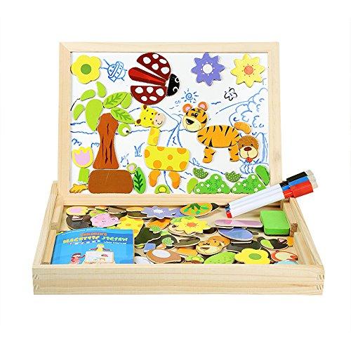 Puzzle en bois Innoo Tech Animaux - avec 3 Stylos Colorés, 100 Pièces (vendeur tiers)