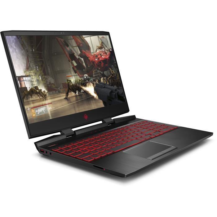 """PC Portable 15.6"""" HP Omen 15-dc0019nf - i5-8300H, 8 Go de Ram, 1 To + 128 Go SSD, GeForce GTX 1060 3Go"""