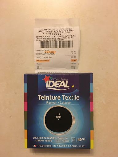 Teinture textile Idéal Noir 13 (Format maxi)