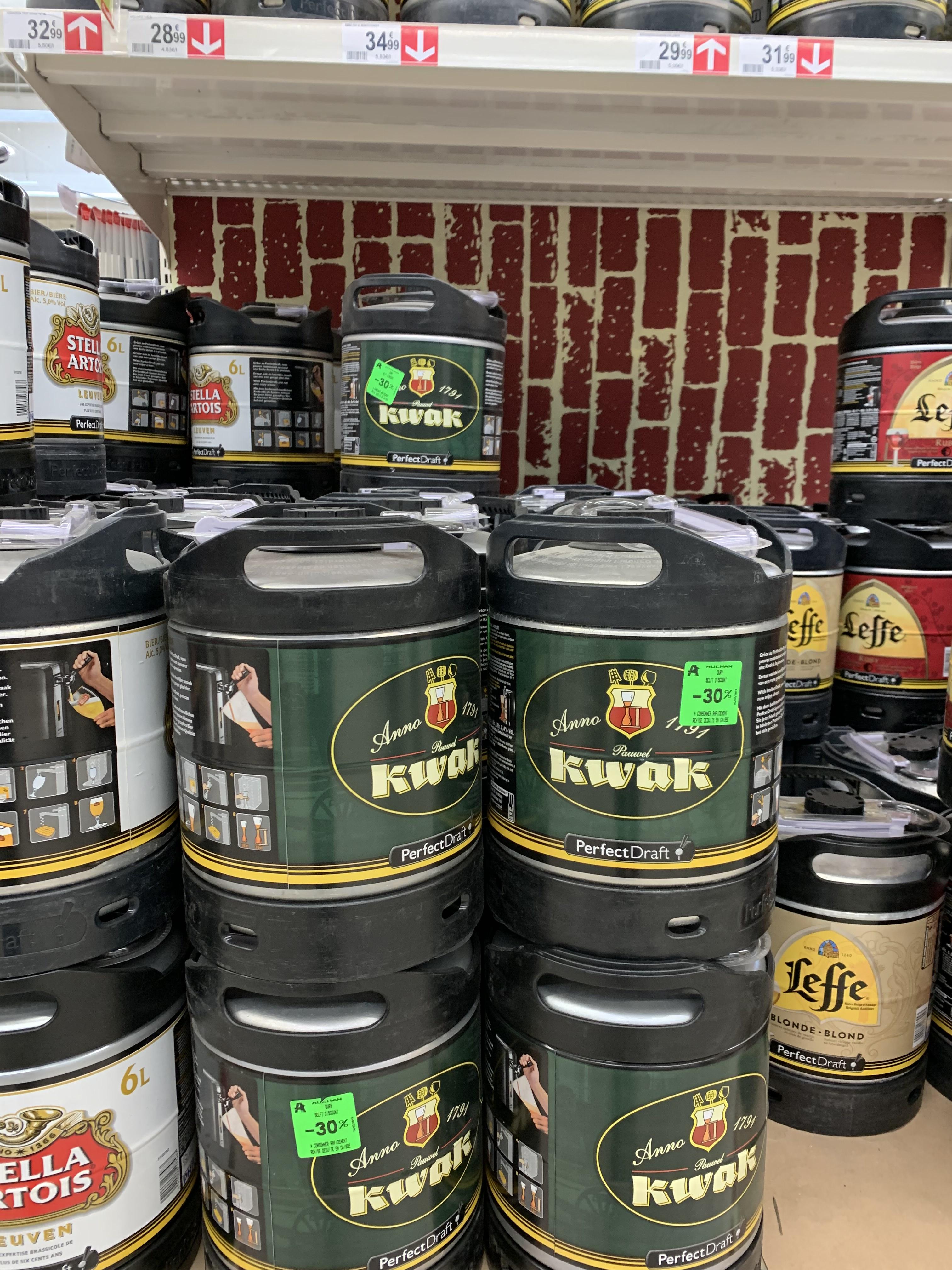 Fût de bière PerfectDraft Kwak - 6L (Amiens Dury 80)