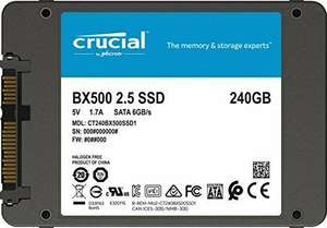 """SSD Interne 2.5"""" Crucial BX500 - 240 Go (3D NAND)"""
