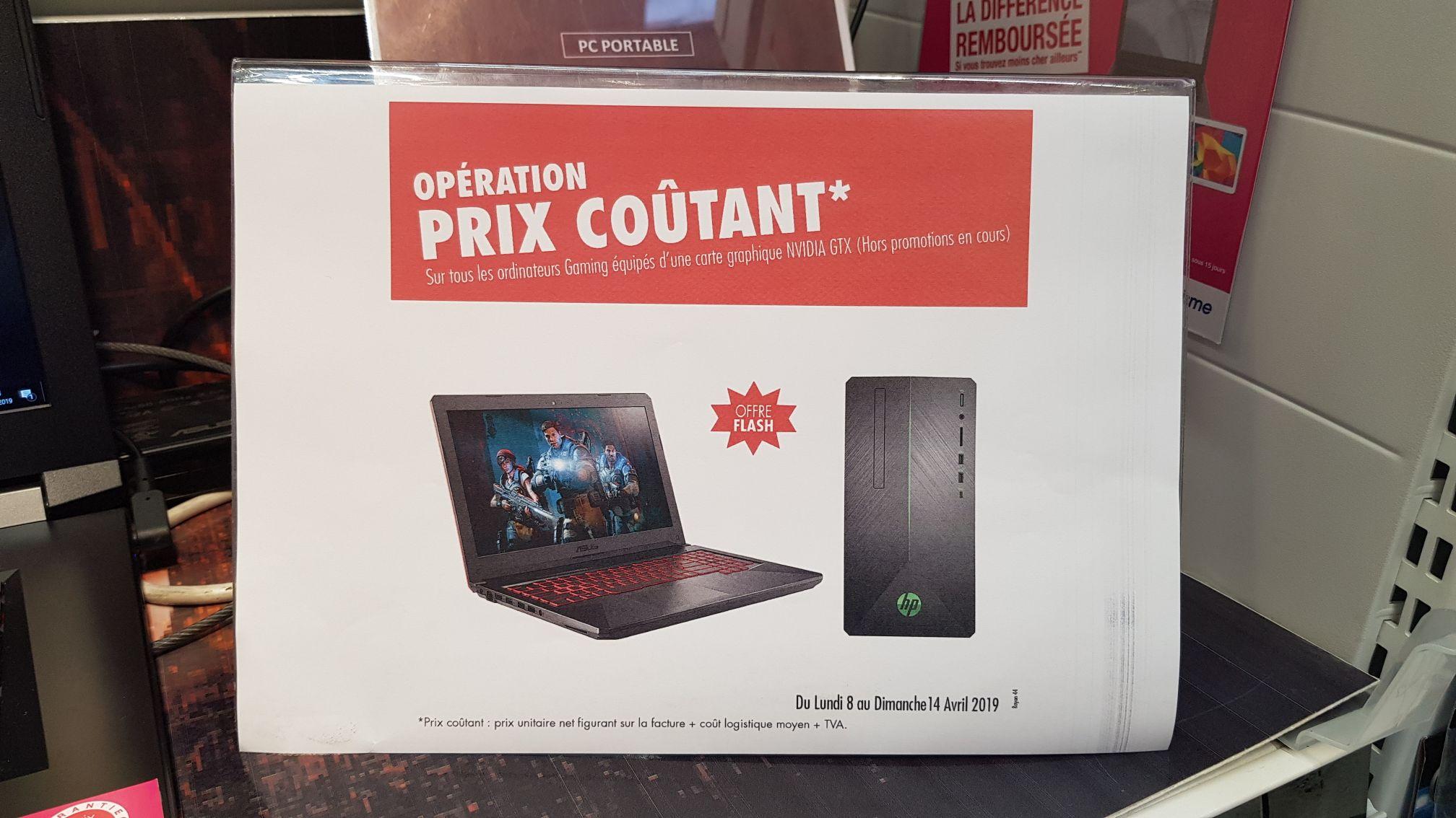 Sélection de PC équipés d'une carte graphique NVIDIA GTX à prix coûtant