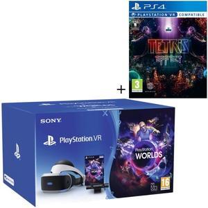 Pack Casque PlayStation VR V2 MK4 + Caméra + 2 Jeux (VR Worlds & Tetris Effect)