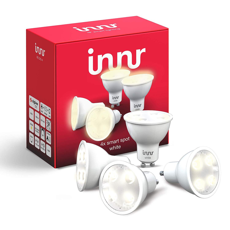 Lot de 4 Ampoules connectées LED Innr GU10 - Blanc (compatible Hue et Alexa avec Hub)