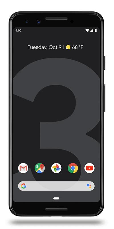 """Smartphone 5.5"""" Full HD Google pixel 3 - 64Go de ROM, 4Go de RAM, Snapdragon 845 (via ODR de 50€)"""