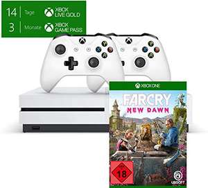 Console Microsoft Xbox One S (1 To)+ 2ème Manette + Far Cry New Dawn + 3 mois Game Pass
