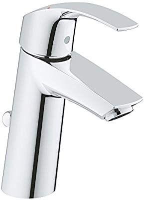 Robinet de Lavabo Grohe Eurosmart - Clapet de Vidage, Bec Medium Ecojoy 23322001 (Import Allemagne)