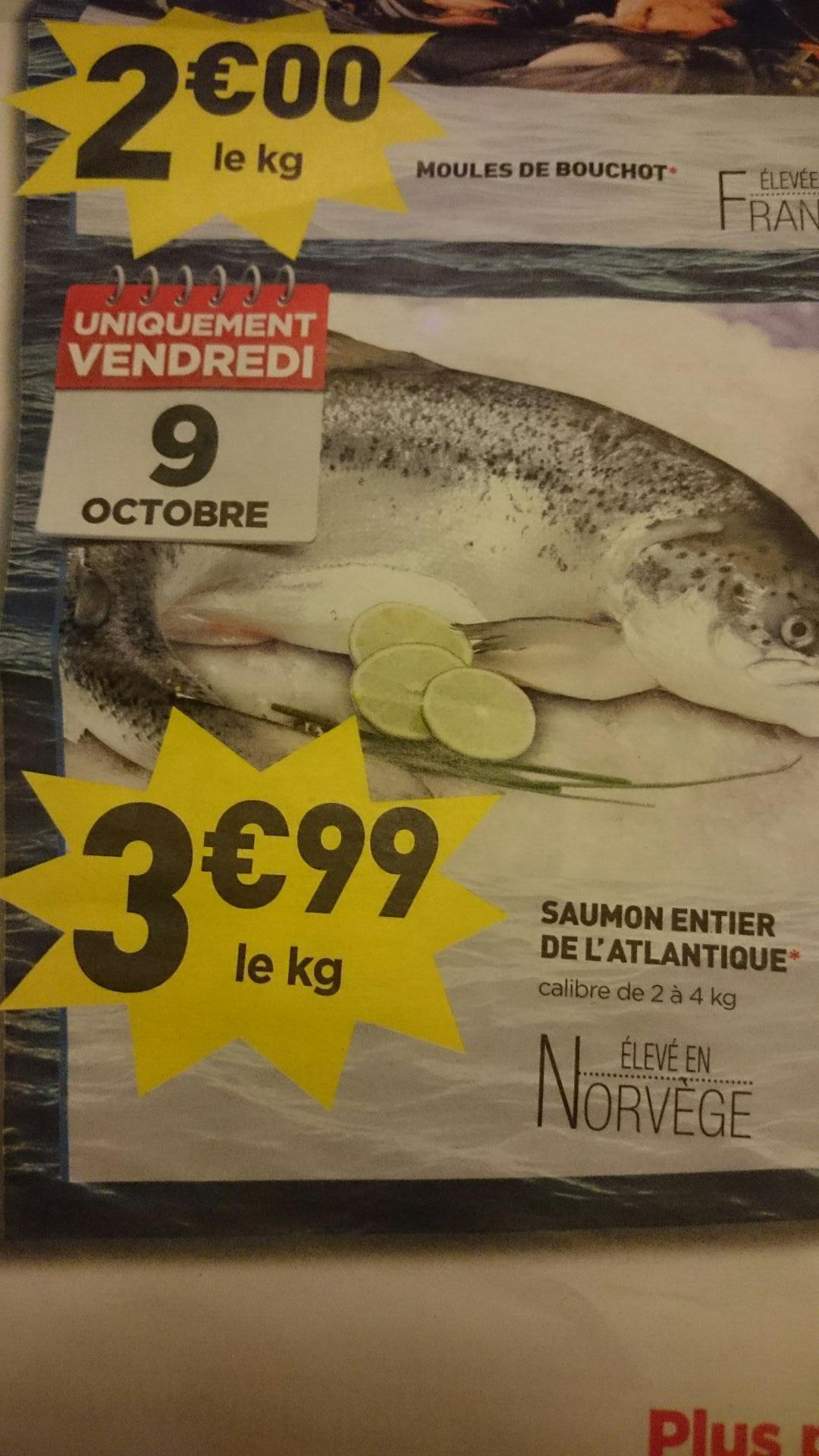 Saumon de l'atlantique entier - le kilo