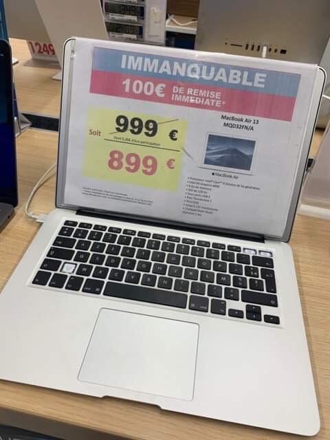"PC portable 13.3"" Apple MacBook Air 2017 (i5-5350U, 8 Go de RAM, 128 Go en SSD) - Vénissieux (69)"