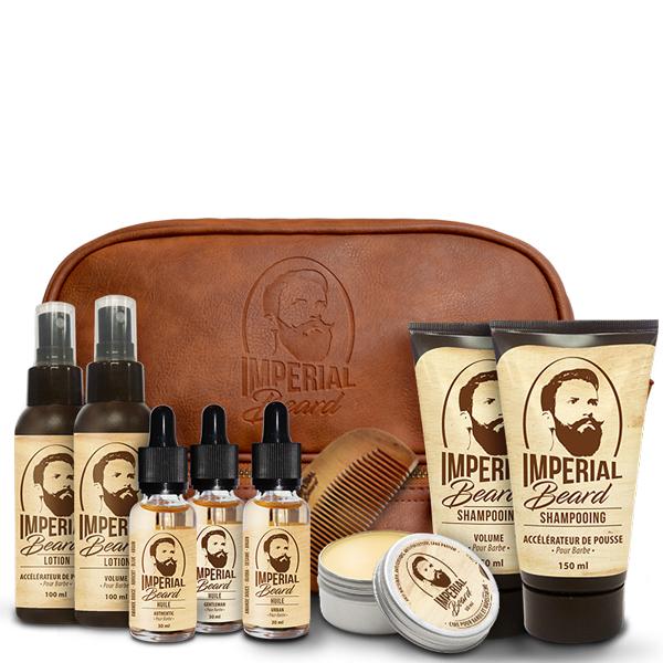 Trousse complète volume, pousse & entretien de la barbe (8 soins & un peigne)