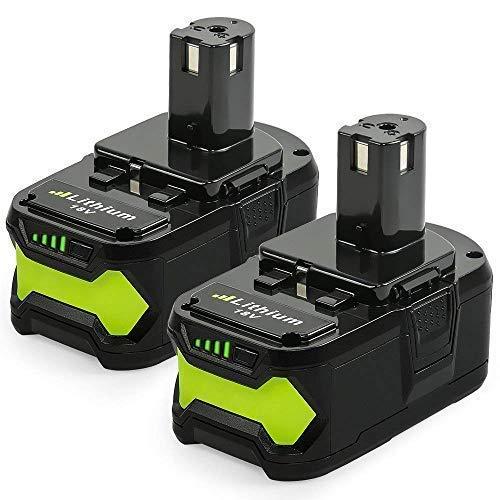 Lot de 2 Batteries de Remplacement Lithium-ion NeBatte P108 avec Indicateur LED - 18V, 5.0Ah (Vendeur Tiers)