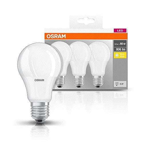 Lot de 3 Ampoules LED Forme Classique Osram - 8,5 W, E27, Blanc