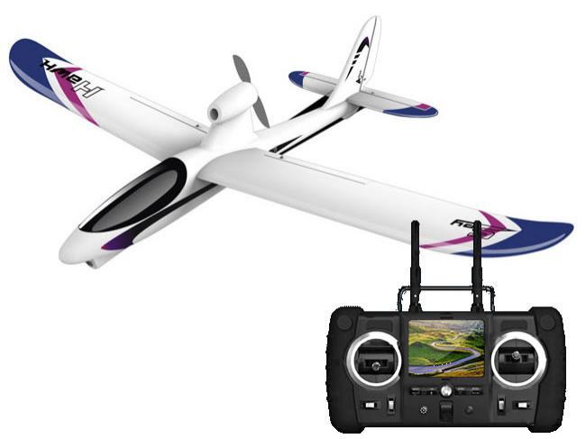 Avion télécommandé Hubsan SpyHawk avec caméra FPV intégrée, complètement RTF