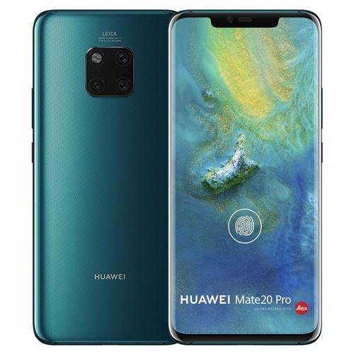 "Smartphone 6.39"" Huawei Mate 20 Pro - double-SIM, QHD+, Kirin 980, 6 Go de RAM, 128 Go, bleu ou vert (vendeur tiers)"