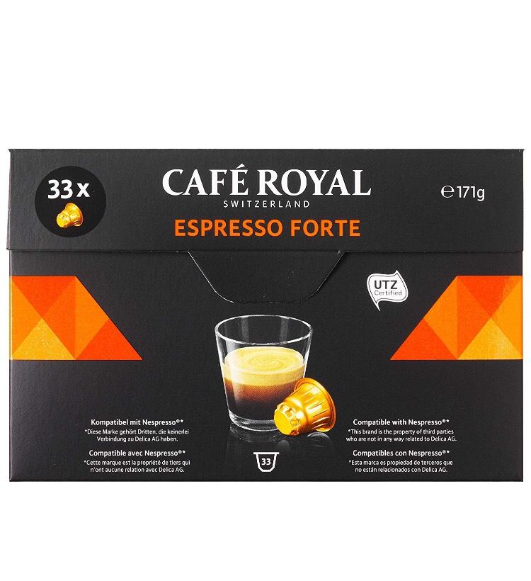 [Panier Plus] Paquet de 33 Capsules de Café Royal Espresso Forte compatibles Nespresso