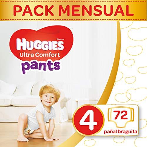 Paquet de couches Huggies Ultra Comfort Pants - taille 4 (x72) à 14.13€ ou taille 5 (x68) à 14.62€