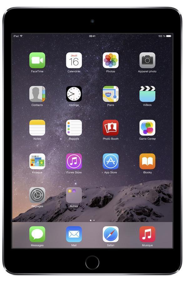 "Tablette 7.9"" Apple iPad Mini 3 -  64 Go Wifi gris sidéral"