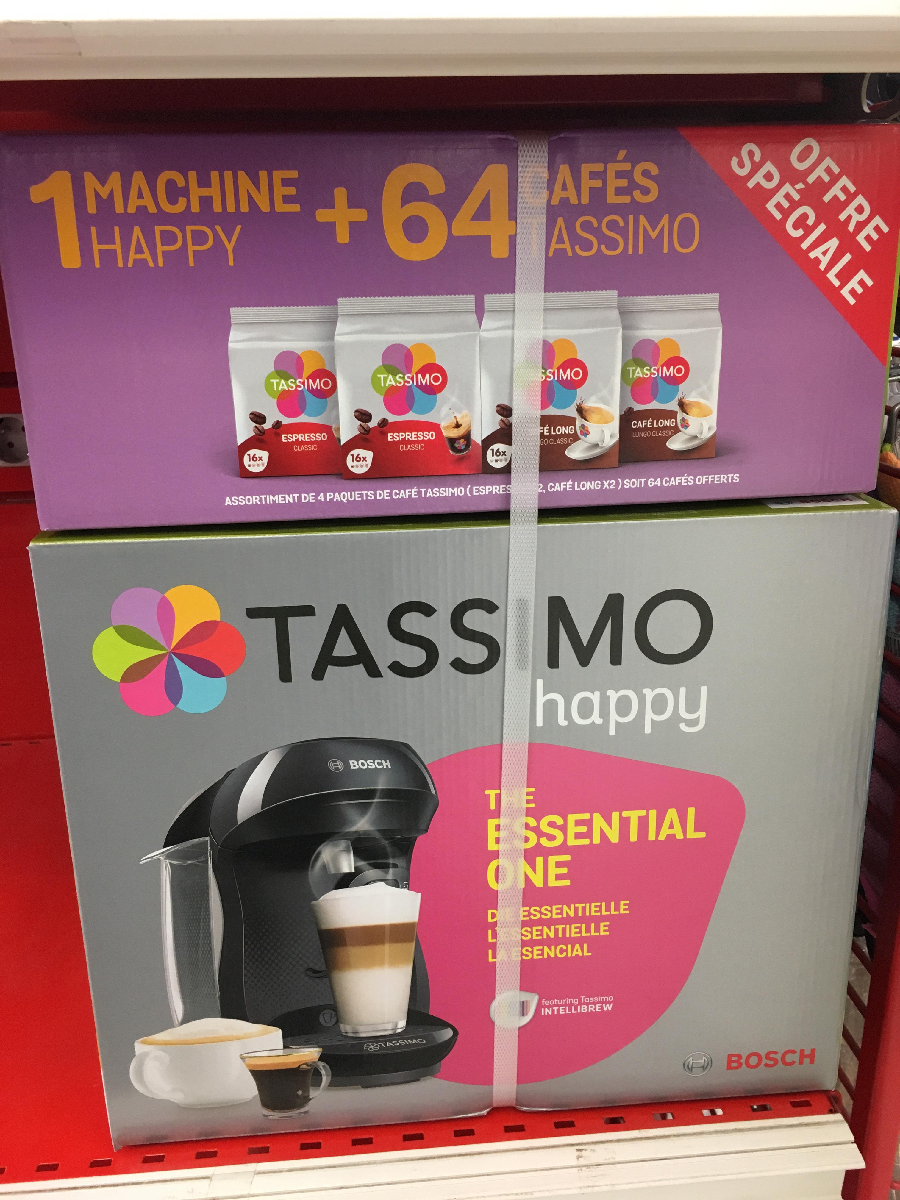 Pack machine à café Tassimo Happy + 64 dossettes - Voiron (38)