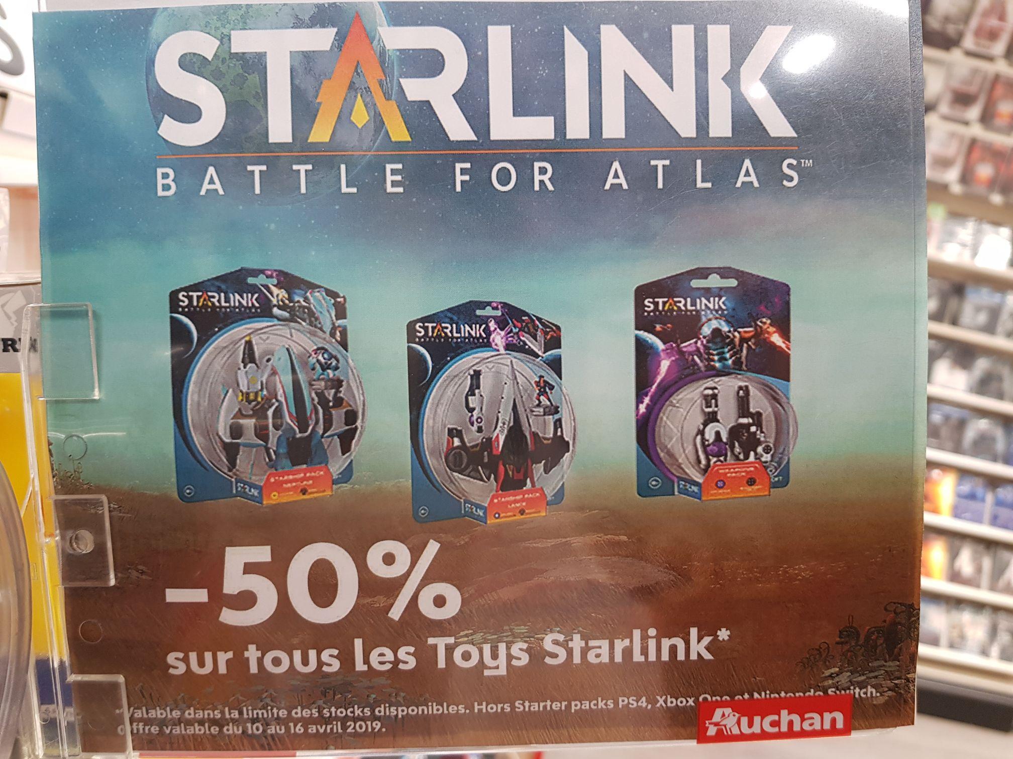 50% de réduction sur tous les accessoires Starlink - Ex: vaisseau Lance à 7,50€