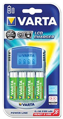 Chargeur pour piles AA et AAA avec 4 piles Varta 2600 mAh