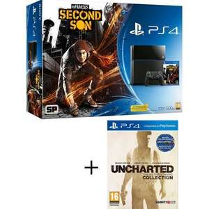 Console PS4 500 Go inFamous Second Son + Uncharted : The Nathan Drake Collection