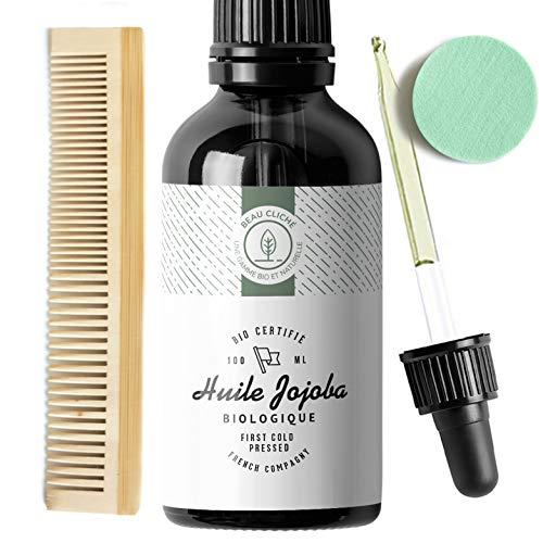 Huile de Jojoba Bio - 100 ml + Kit complet Peigne + applicateur visage + Pipette (vendeur tiers)
