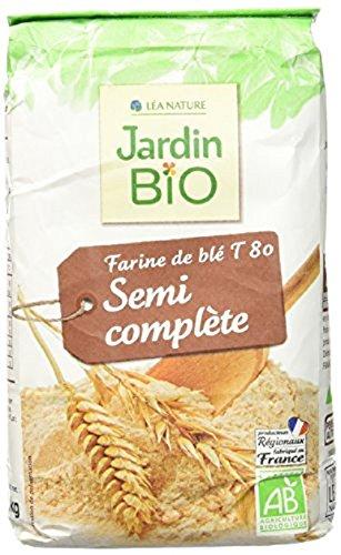 [Amazon Pantry] Sachet de farine de blé semi-complète Léa Nature Jardin Bio T 80 - 1 kg