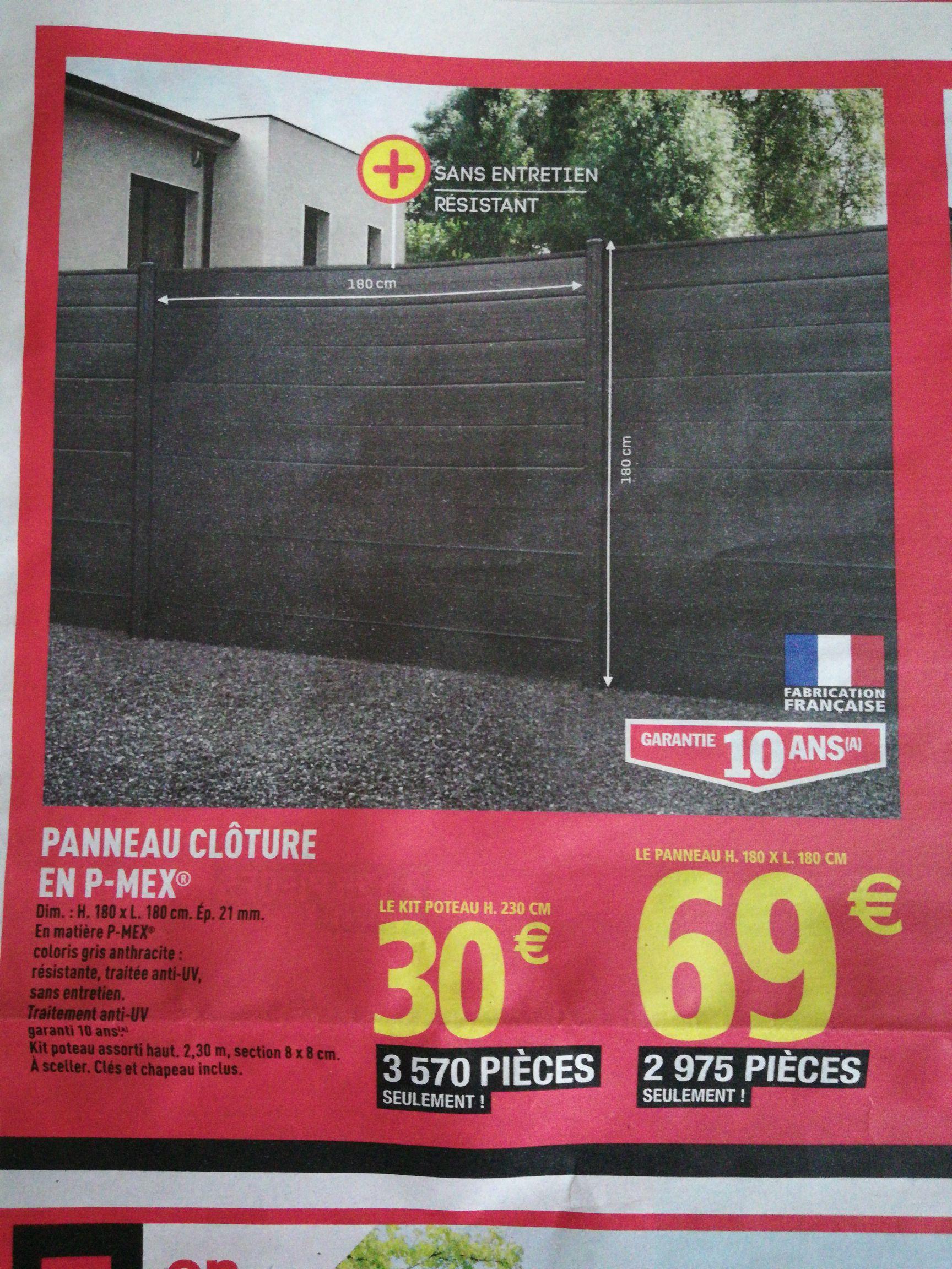Panneau clôture - 180 x 180 cm en P-Mex
