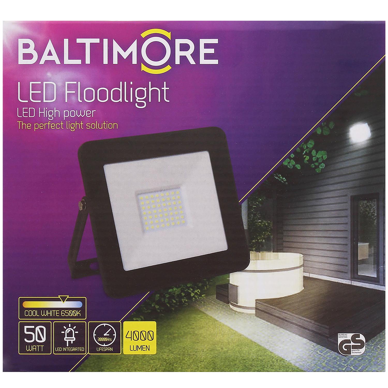 Projecteur Baltimore IP65 - 50 W, 4000 Lumens, 6500 Kelvins