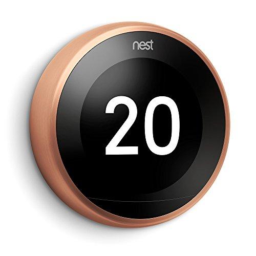 Thermostat connecté Nest Learning 3ème génération - cuivre