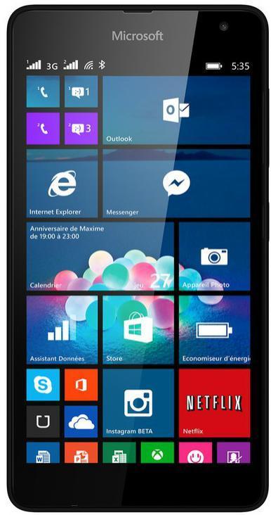 """smartphone 5"""" Microsoft Lumia 535 (Avec ODR de 20€) + 25€ d'applications"""