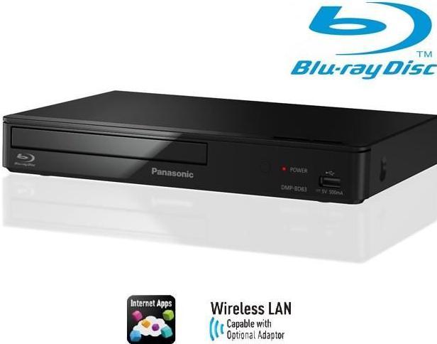 Lecteur Blu-ray/DVD Panasonic  DMP-BD83 USB