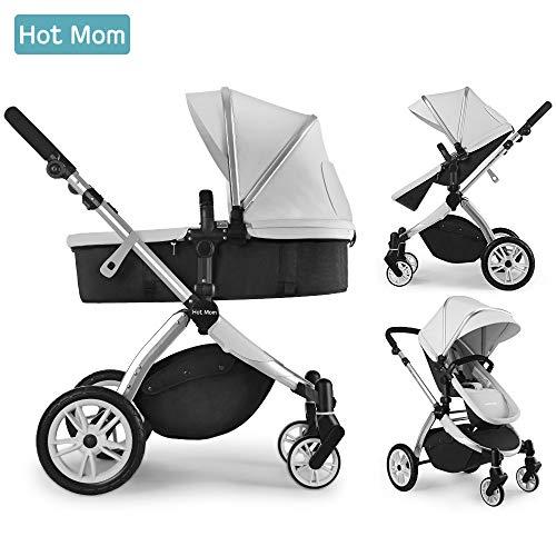 Chariot poussette Hot Mom 2018 avec nacelle et siège enfant (vendeur tiers)