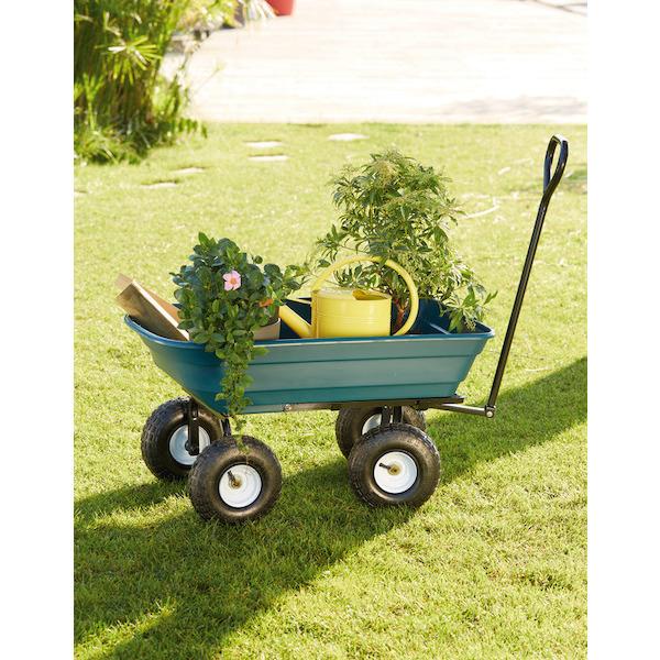 Chariot de jardin à bascule - 75 L, 200 kg de charge maximum