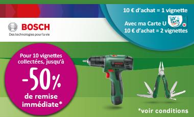 [Vignettes Super U] Jusqu'à 50% de réduction sur une sélection de produits Bosch