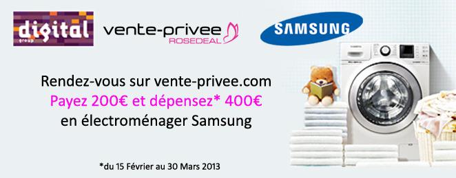 dépensez 400€ en électroménager Samsung