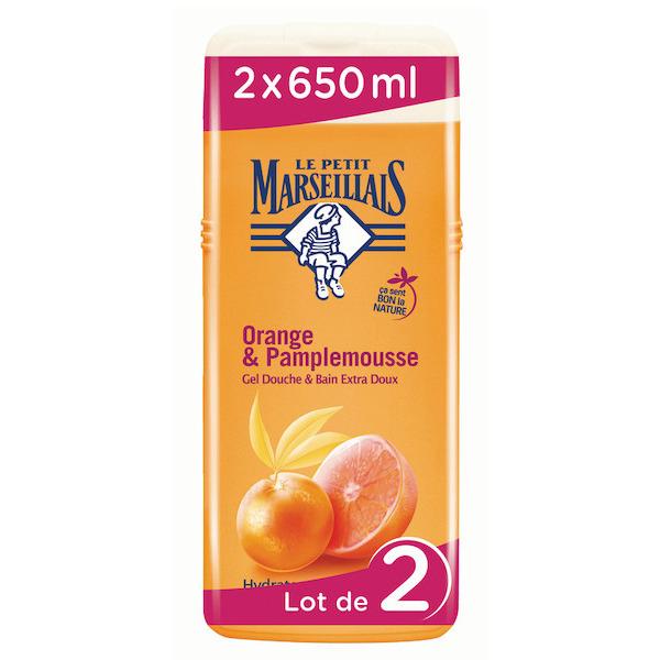 Lot de 2 gels douche grand format Le petit marseillais - 2 x 650 ml (via 4,89 € sur la carte fidélité)