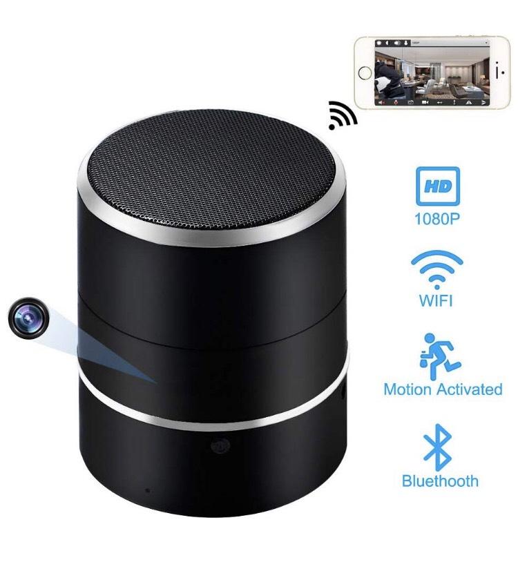 Caméra Cachée WiFi LXMIMI, enceinte Bluetooth 1080P HD , Rotation de 180 ° et Détection de Mouvement (Vendeur tiers)