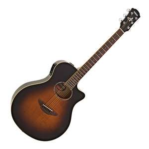Guitare électro-acoustique Yamaha APX600FM Flame Maple Tobacco Sunburst