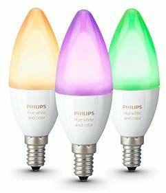 Pack de 3 ampoules connectées Philips E14 White And Colors
