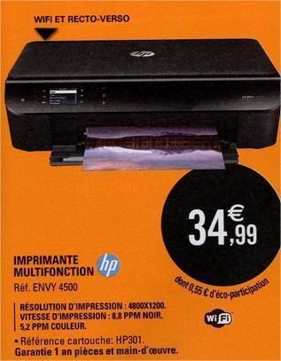 Imprimante multifonction 3en1 HP Envy 4500
