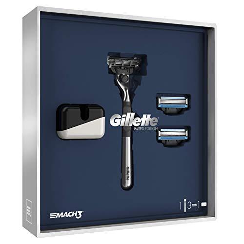 Coffret Rasoir Gillette Mach 3 - Edition limité + 2 Lames pour Homme