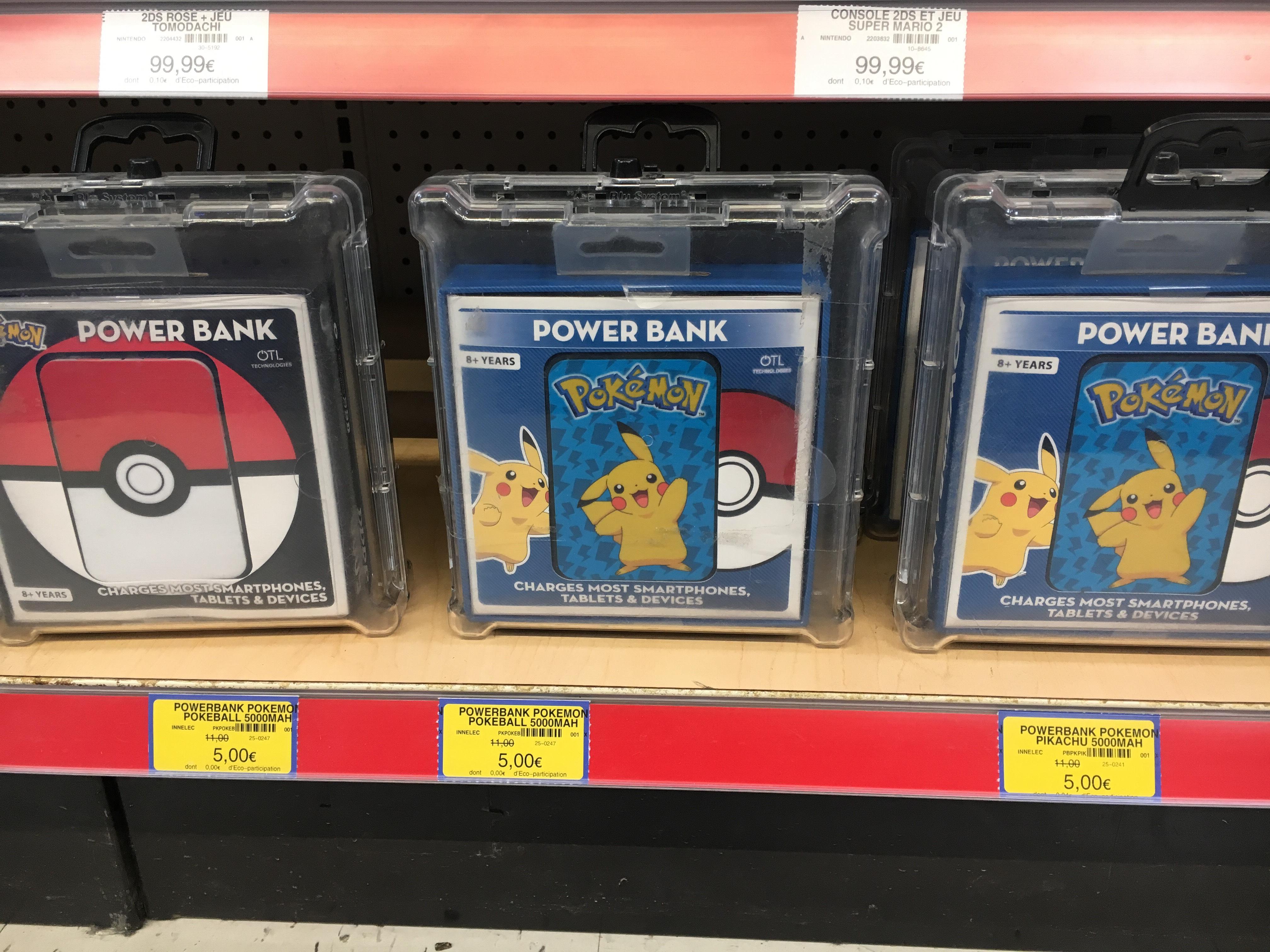 Batterie externe Pokémon 5000mAh - (Saint-Priest 69)