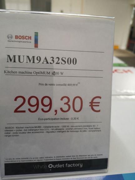 Robot pâtissier Bosch optimum MUM9A32S00 - Outlet Factory Saint Ouen (93)