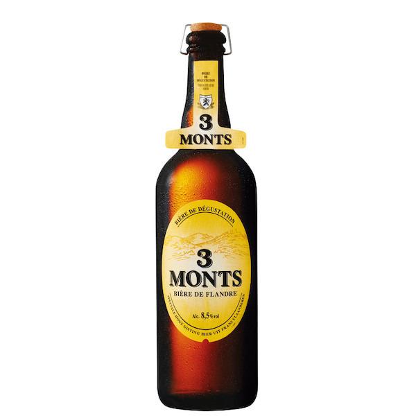 3 Bières Blondes des 3 monts - 3 x 75cl