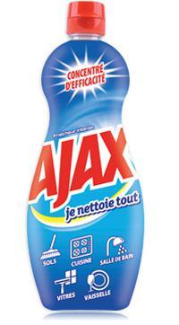 2 Gels nettoyant ménager Ajax Je Nettoie Tout - 750 ml (via BDR)