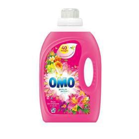 Lot de 2 bouteilles de lessive liquide Omo - 40 lavages, 3L