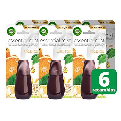 Lot de 6 recharges Air Wick Essential Mist pour désodorisants - Odeur Explosion citrique